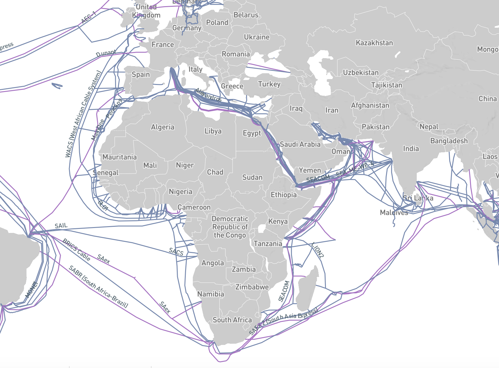 Africa Internet Cable Infrastructure
