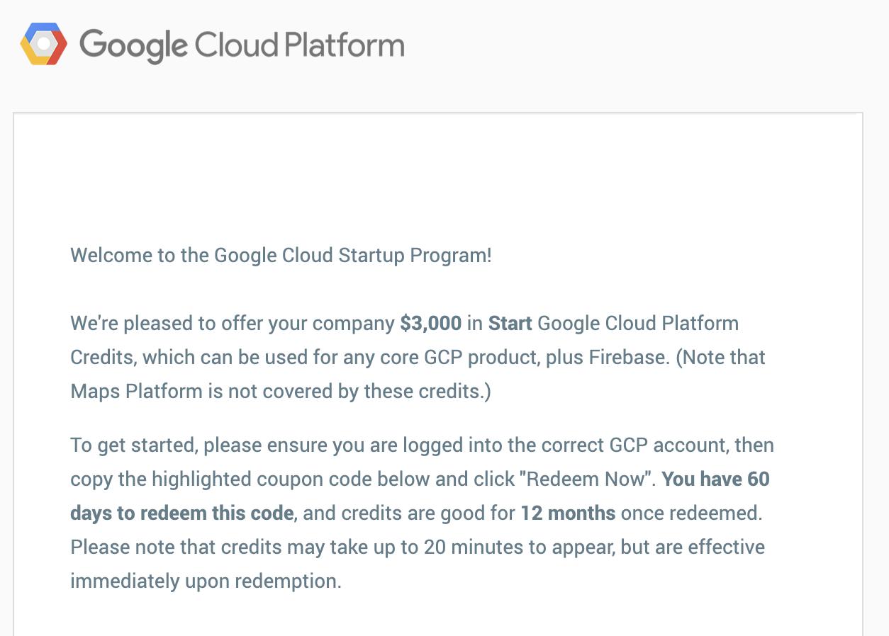 Google Cloud Startup Program